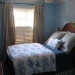 Lyseblå anvendt i soveværelset