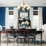 Blå maling til væggene der bliver mørkere - dip dye effekt