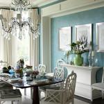 Klassisk hjem med brug af grøn maling, der står flot til møblerne