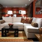 Røde vægge tilføjer noget kontrast til hjemmet