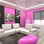 Pink og sorte vægge