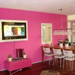 Pink maling brugt i en stue