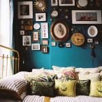 Blå maling på soveværelset